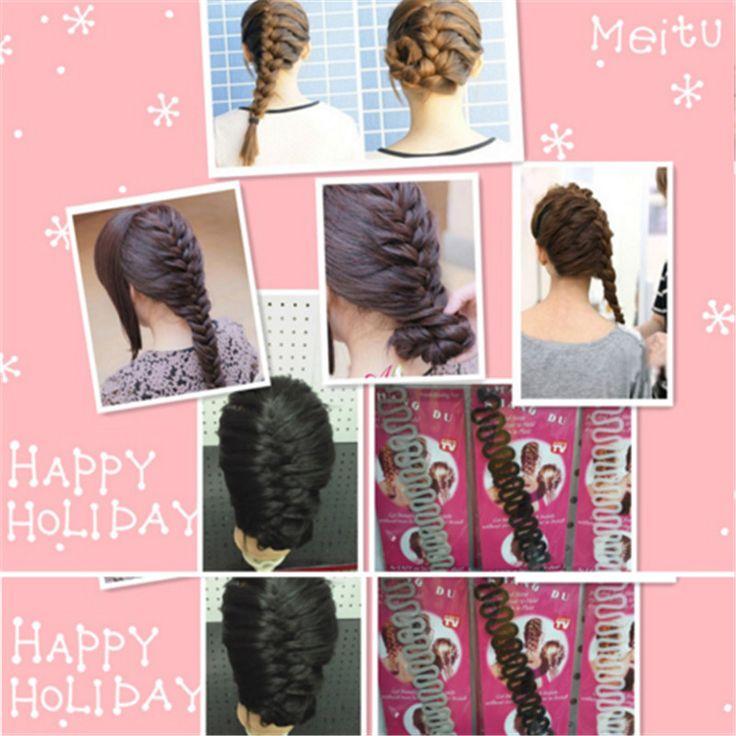 Fashion New Hair Braiding Hair Roller With Hook Magic Twist Styling Braiding Tool Bun Maker Hair Accessories New