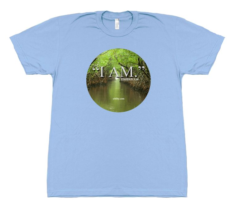 Ladies Christian I Am Exodus T Shirt 100% cotton t design that walks with the Holy Ghost and changes lives.  This shirt inspires curiosity and opens conversation about Jesus Christ. Support Yittiby and their online mission to spread the gospel across the globe.