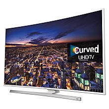 """Buy Samsung UE40JU6510 Curved 4K Ultra-HD Smart TV, 40"""" with Freeview HD/freesat HD, Built-In WiFi and Intelligent Navigation Online at johnlewis.com"""