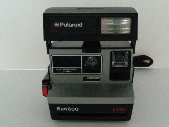 Vintage Polaroid Sun 600 LMS Instant Film Land Camera with Strap - TESTED #Polaroid