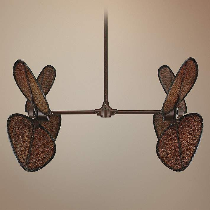 Fanimation Palisade Natural Rust Finish Double Ceiling Fan - #27782-56917 | Lamps Plus