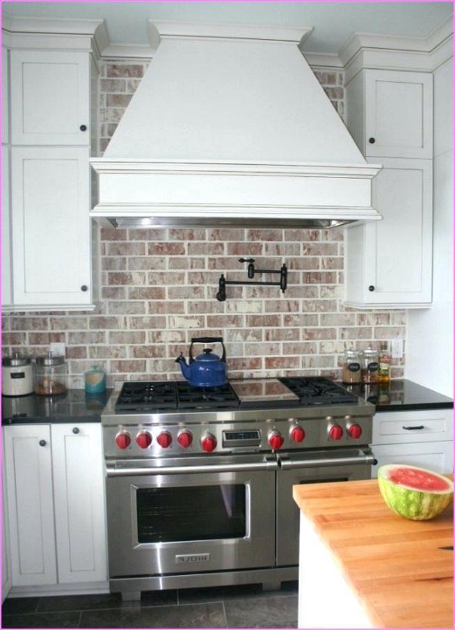 brick tile backsplash kitchen charming