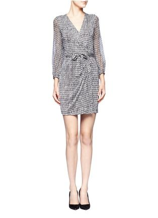 DIANE VON FURSTENBERG - Sigourney patterned wrap dress | Multi-colour Work Dresses | Womenswear | Lane Crawford