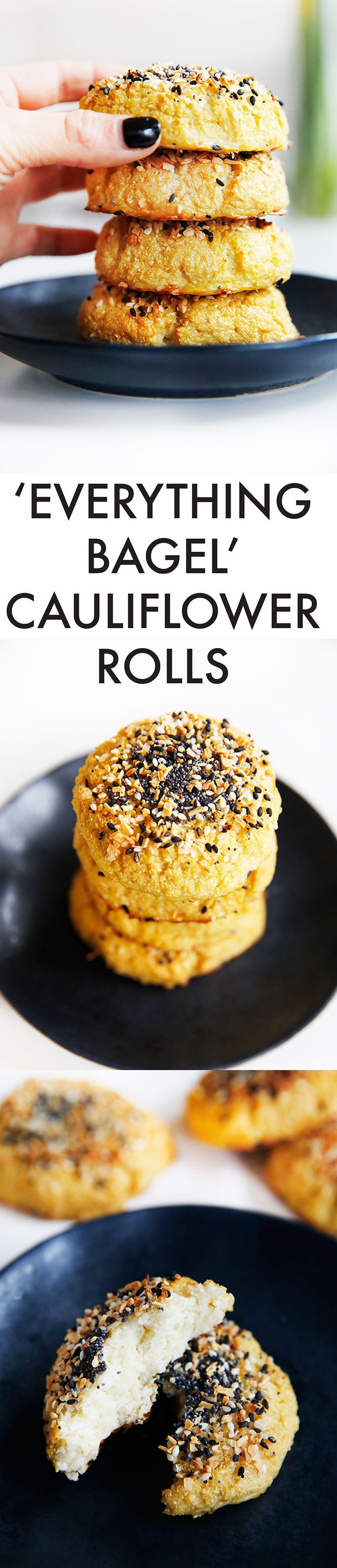 Everything Bagel Cauliflower Rolls (gluten-free, grain-free) - Lexi's Clean Kitchen
