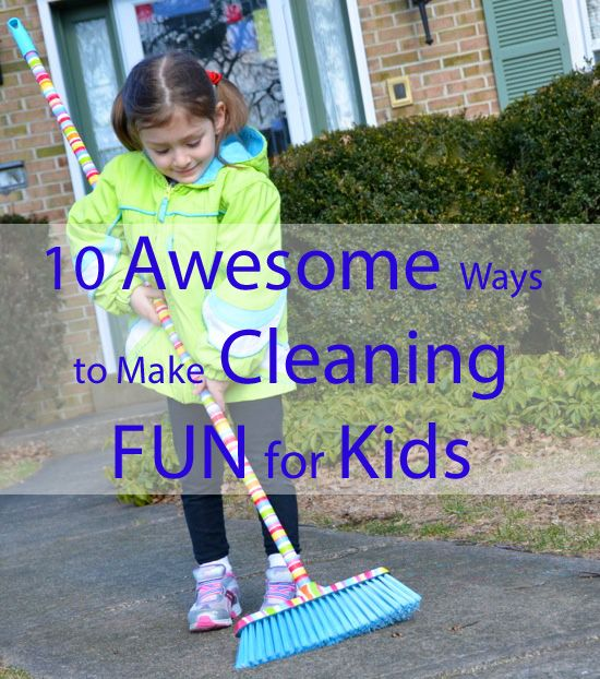 Make cleaning fun for kids! #organization #cleaning #parenting
