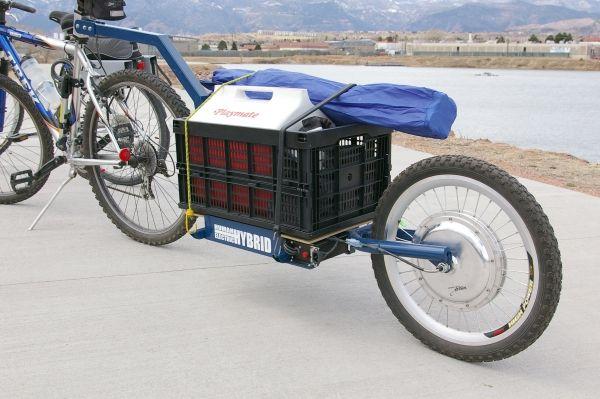 bike trailer | Electric Push Bike Trailer | Bike Shop Hub