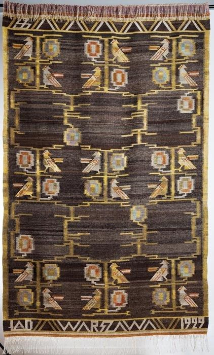 Eleonora Plutyńska, Flowers, kilim, made by the Ład Artists' Cooperative, displayed at the Nationwide Exhibition in Poznań, 1929, collections of the Central Textiles Museum in Łódź, Photo: Michał Korta - photo 9