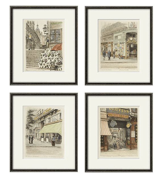 French art print poster Paris wall art by VictorianWallArt on Etsy, $30.00