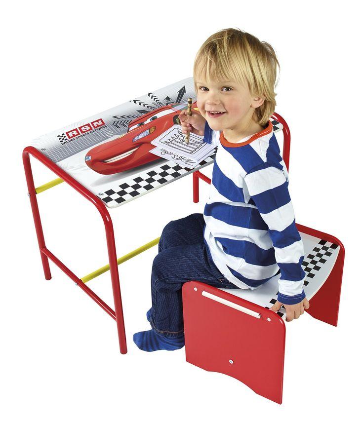 MESA Y BANCO CARS INFANTIL DE MADERA Y METAL. 472CCC, IndalChess.com Tienda de juguetes online y juegos de jardin