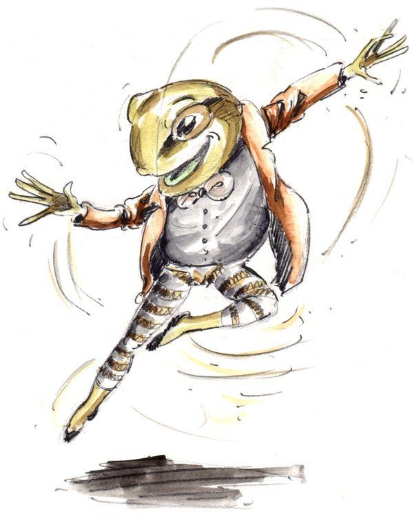 Просмотреть иллюстрацию Mr. Frog из сообщества русскоязычных художников автора Алтан в стилях: Скетчи, нарисованная техниками: Акварель.