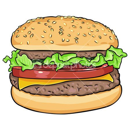 Vector cartoon hamburger