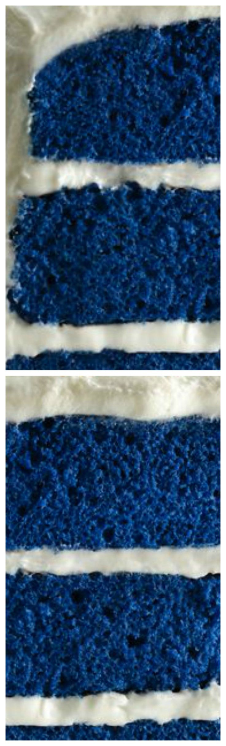 Royal Blue Velvet Cake ~ A new twist on a traditional red velvet cake, inspired by the royal heirloom sapphire engagement ring.