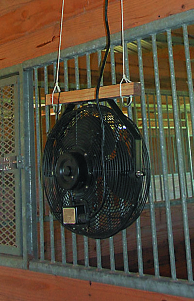 Stall-Fan Safety: Nothing can totally prevent barn fires, but you can lessen the odds with the right fan. A barn fan needs to have a sealed motor. We would consider springing for commercial quality, made for use in outdoors and/or wet, dirty areas, and expect to get more than one year out of it.