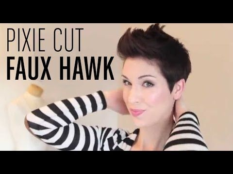 how to style a faux hawk with short hair best 10 pixie faux hawk ideas on funky 3743 | 212b4deb722a2ade65404d581061f198 faux hawk pixie how to style pixie faux hawk