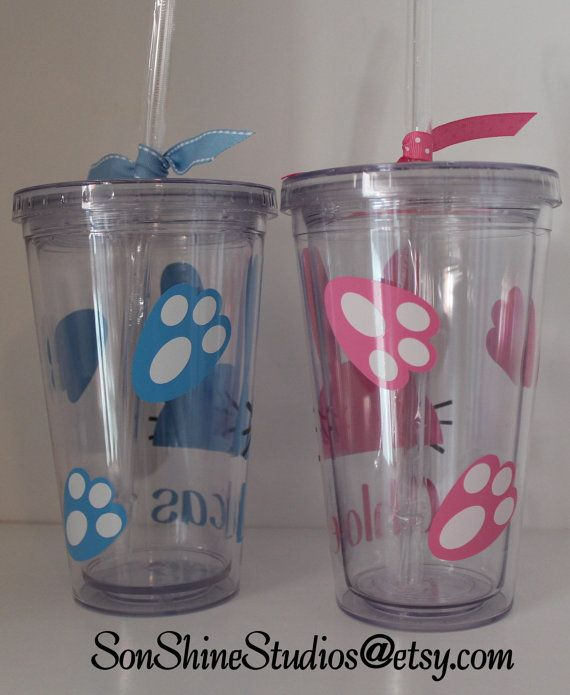 Personalized Easter Rabbit Kids Tumbler 12 Oz By