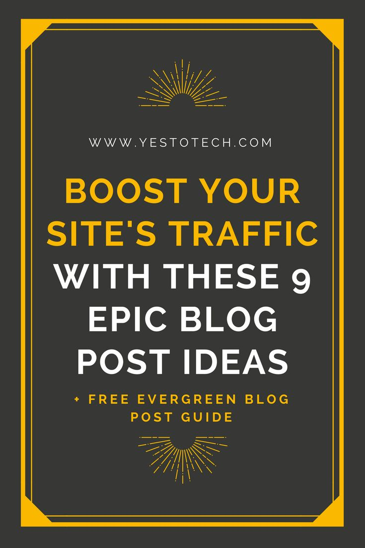 9 Epic Blog Post Ideas To Boost Traffic. If you want to truly transform your traffic, you need to blog with strategy in mind. Your blog posts should either teach your audience, answer questions, or help them to make a purchase. So let's cover 9 examples of epic, evergreen blog post ideas that you can create. blogging for beginners   blog post ideas   blogging   blog   blog ideas   Successful Blogging  Blogging For Beginners   Blogging Strategist   Blogging For Money   Beginning B