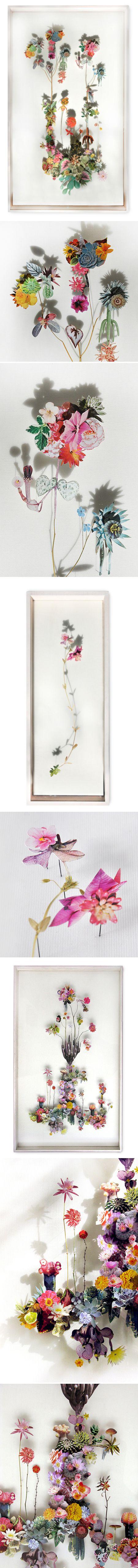 Anne Ten Donkelaar: Art Blog, Artists Anne, Jealous Clean, Paper Art, Paper Flowers, Flowers Pictures, Flowers Art, Cut Flowers, Anne Ten