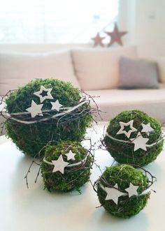 Mooskugeln Kugel Moos Weihnachten (Diy Deko Weihnachten)