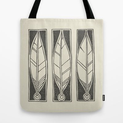 Ethnic Feathers Tote Bag by Nameless Shame - $22.00