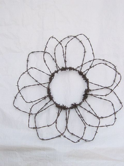 203 best Barbed Wire Crafts images on Pinterest | Wire, Barbed wire ...