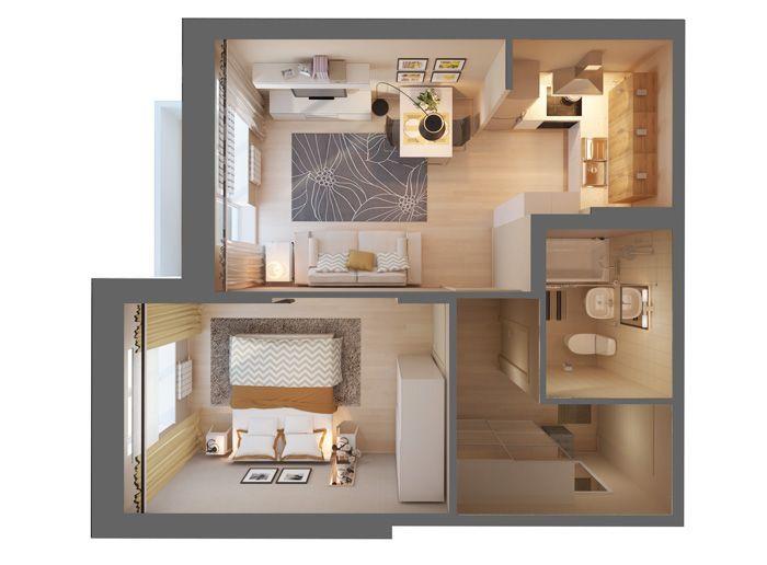 1 комнатная квартира 33 кв дизайн проект - Поиск в Google