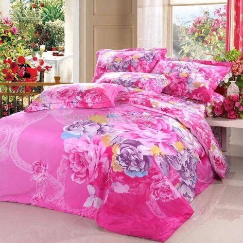 Rainbow blomstret sengetøj — Interiør