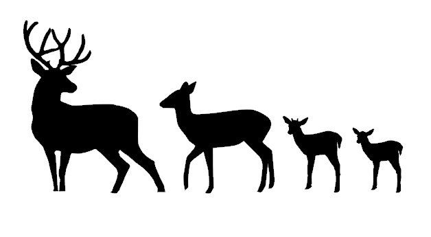 Deer Silhouette Family Vinyl Car Decal by CountryChicAntiques, $20.00