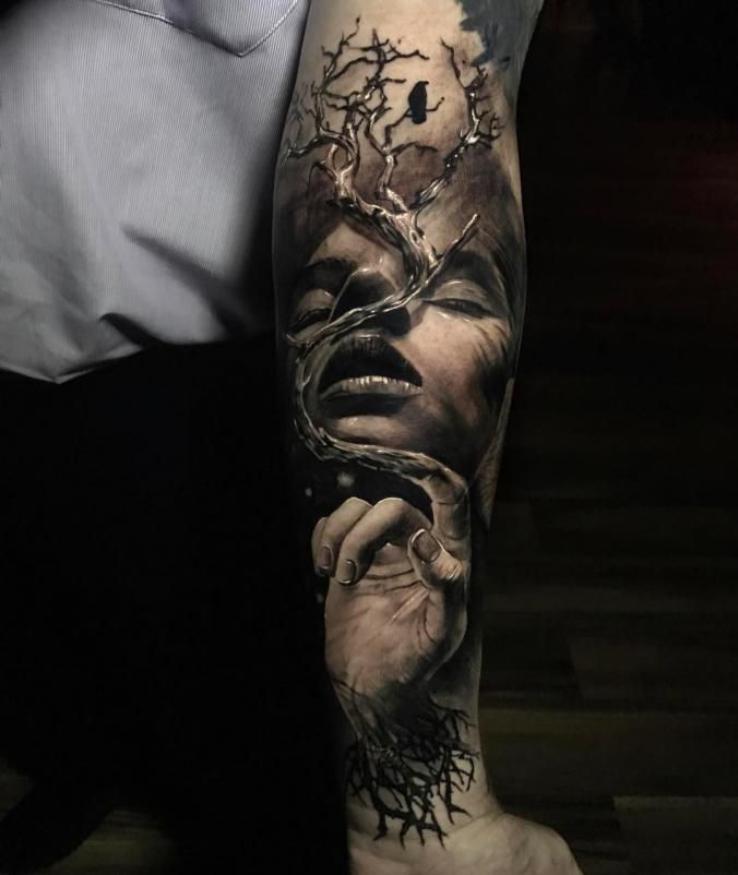 Awesome 3D sleeve tattoo