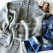 Купить или заказать В НАЛИЧИИ! Кардиган-оверсайз из толстой пряжи темно-синего цвета в интернет-магазине на Ярмарке Мастеров. Уютный толстый кардиган-оверсайз из шерстяных ниток для прохладной погоды. На фото размер S/М, цвет темно-синий, состав пряжи 49% шерсти, 51% акрила. Красиво будет смотреться с платьем,брюками и джинсами. Можно заказать другого цвета - выбор большой! Померить можно на Войковской, встреча в Метрополисе или есть курьер.