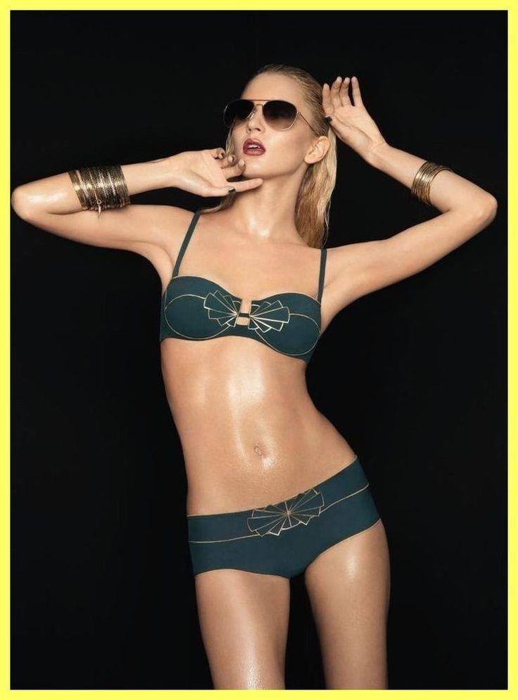 NWT $175 HUIT 8 PARIS CLEOPATRA GREEN GOLD SWIMSUIT BIKINI SET 32C EU 70C, S XS #Huit #Bikini