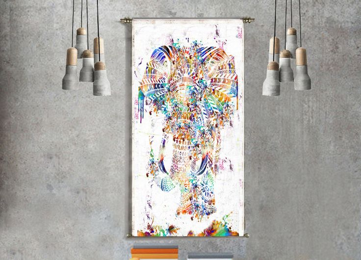 Geometric Elephant Mandala Tapestry Bohemian Decor Wall Hanging Animal Wall Art Abstract Painting Home Decor Large Art Canvas Art Boho Yoga by ThestoryoftheFall on Etsy https://www.etsy.com/listing/248478415/geometric-elephant-mandala-tapestry
