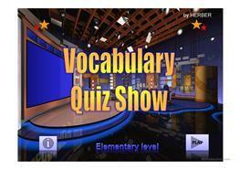 Vocabulary Quiz Show PPT