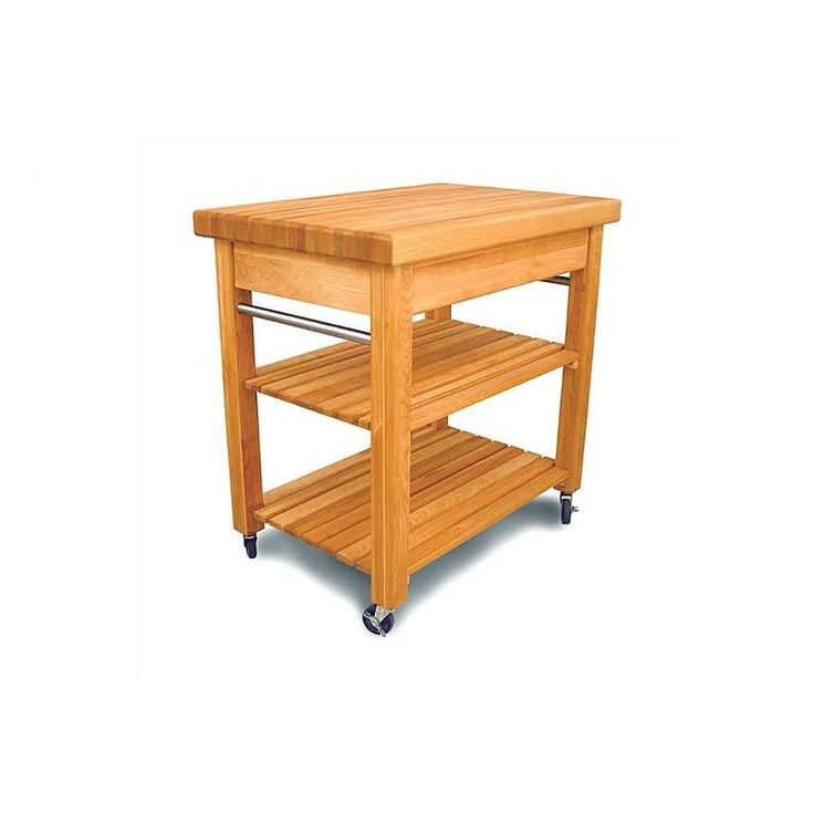 french country kitchen cart with butcher block top - Butcher Blocks