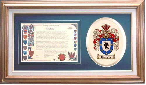 $109.99 Garcia Family Name History and Coat of Arms / Family Crest