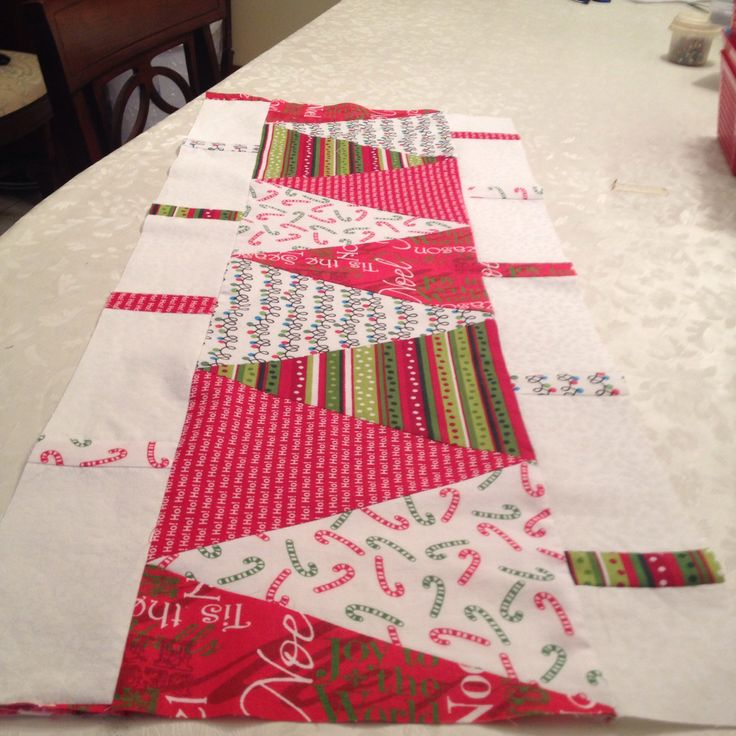 Christmas crafting. Thanks for the tutorial from Missouri Star Quilt Company!