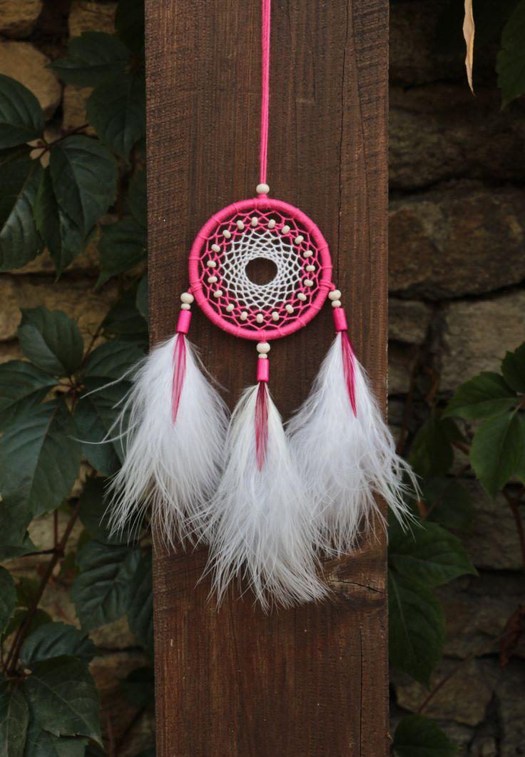 Collar de espejo retrovisor de pequeño sueño catcher/rosa