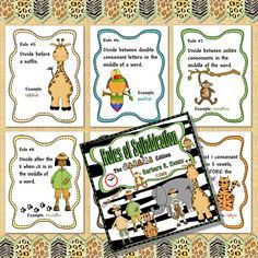 Rules of syllabication safari style.  Great for your bulletin board.