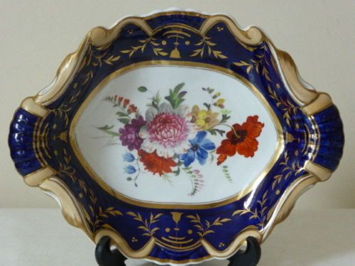 Ridgway-Hand-painted-floral-dish-plate-pre-1840-pattern-733