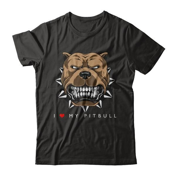 Men And Woman's Pit Bulls Shirt I love My Pit Bulls Costume