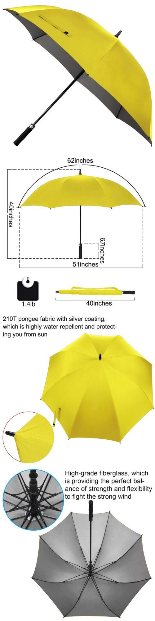 Golf Umbrellas 18933: Rainlax Windproof Golf Umbrella 62 Inch Oversize Canopy Automatic Open Large... -> BUY IT NOW ONLY: $34.86 on eBay!