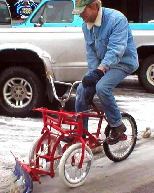 Redneck snow plow