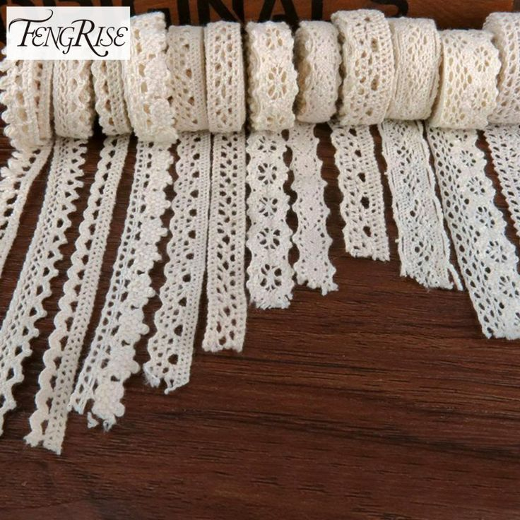 FENGRISE Apparel Sewing Fabric 5Yards DIY Ivory Cream Trim Cotton Crocheted Lace Fabric Ribbon Handmade Accessories Craft * Posetite ssylku izobrazheniya boleye podrobnuyu informatsiyu.