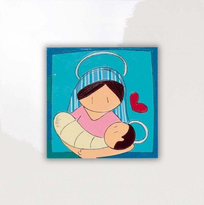 SALVADORIARTE dipinto a mano - pannello 28x28 - decorazione casa quadro parete G
