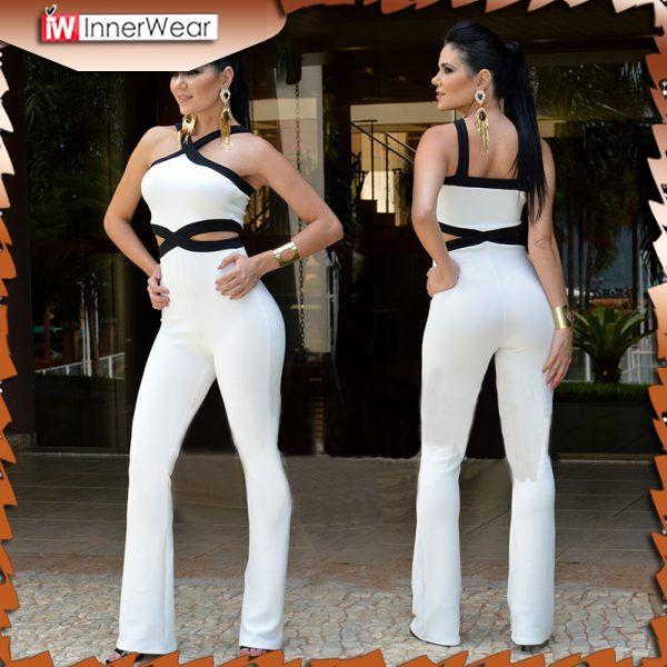 Women's sexy slim Halter Full Length pants coveralls Rompers......................................  Price : $23.28