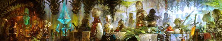 Falconner Jones - widescreen backgrounds final fantasy xiv - 5760x1080 px