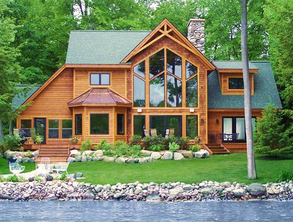 My dream:  Own a log cabin on a lake