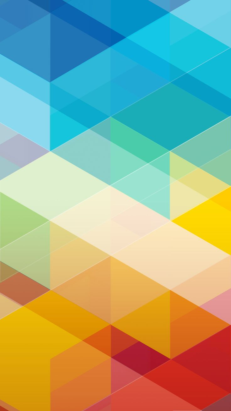 Colourful triangles color of rainbow in abstracttap to