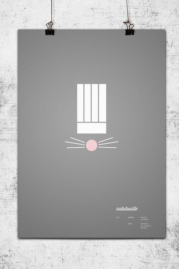Pixar Movie Posters by Wonchan Lee