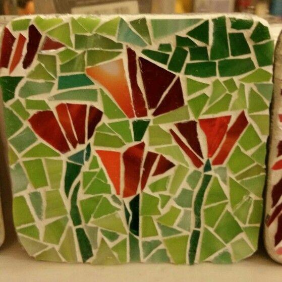 Floral Mosaic Coaster