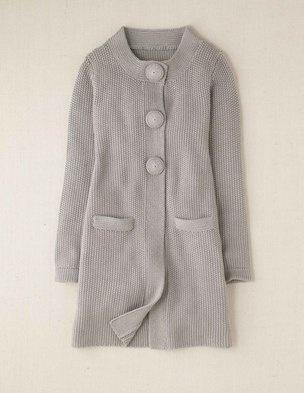 Boden Crochet Button Cardigan